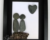 Unique Engagement Gift- Personalized Couple's Gift - Wedding Gift - Pebble Art - Love Gifts - SticksnStone