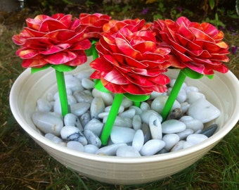 Realistic Duct Tape Rose Bouquet (Set of 6)