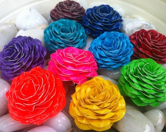 Duct Tape Adjustable Rose Rings