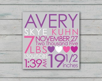 Girl Birth Announcement - DIGITAL FILE