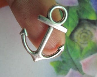 wholesale 150pcs 19x15mm tibetan silver Boat Anchor charms findings