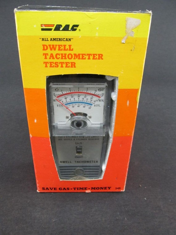 items similar to vintage rac dwell tachometer tester model. Black Bedroom Furniture Sets. Home Design Ideas