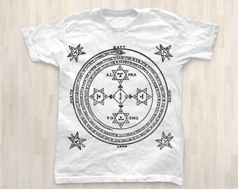 The Solomonic Circle Men T Shirt / Magic Symbols Short Sleeves T shirt / T Shirt For Men / Men's T Shirt