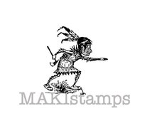 Rubber stamp of Brownie Native American / Indian stamp (131107)