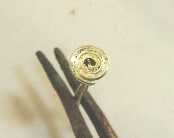 Spiral Nose Stud , solid 18k / 20k Gold