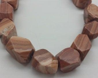 Red malachite stone rectangular beads- 22 pcs/strand