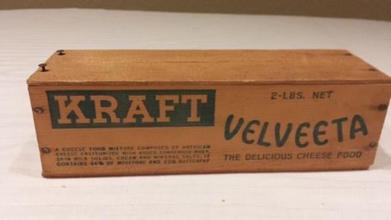 Kraft Velveeta Cheese 2 Lbs Wooden Box