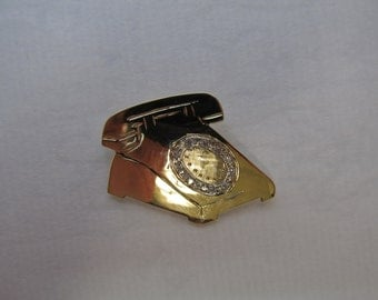 Diamond Telephone Brooch in 14K Item W-#138
