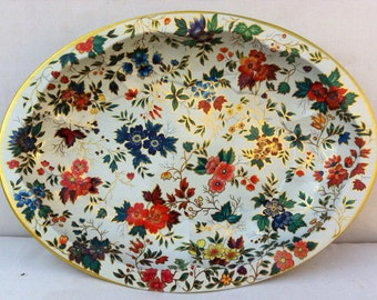 Vintage Daher Tin Bowl Tray 1980s