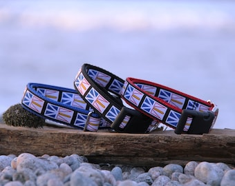 "Newfoundland Flag Dog Collar 1"" wide"