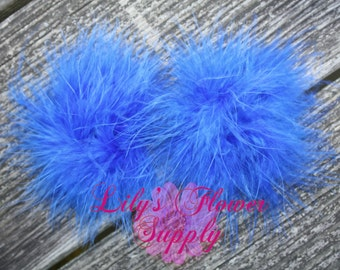 Marabou Feather Puffs - Set of 2 - Royal Blue - Feather Puff