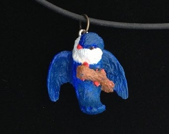 Tahitian Blue Lory Pendant / other Lorikeet species available at your request