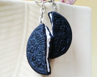 large oreo key rings/charms for bestfriends bff sisters partners