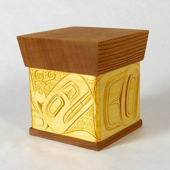 Native American Bentwood Box Orca Whale Design