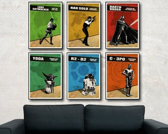 Star Wars Posters Collection (MultiColorArt Design) A3 (6) Professional Quality Posters