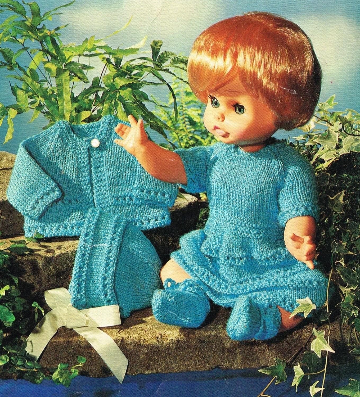 Knitting Pattern For Dolls Hoodie : Dolls clothes Knitting pattern for 14 & 18 doll.