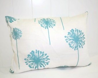 Decorative Lumbar 12x16 Pillow Premier Prints: Turquoise Dandelion Pillow Cover