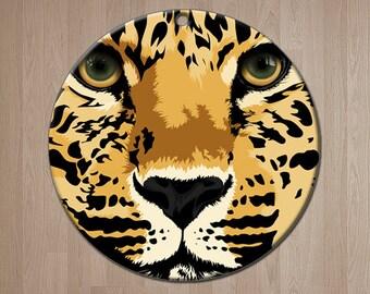 "Leopard Christmas Ornament - ""Chui"", Wild at HeART Leopard ornament by Amanda Lynn"