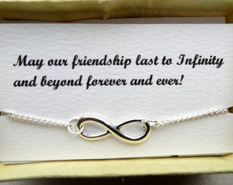4 Infinity anklet gifts, Friendship gifts, Silver infinity ankle bracelets, Bridesmaids gifts, Infinity jewelry