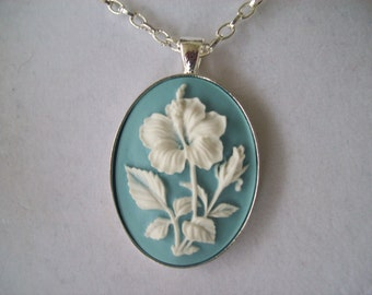 Blue and White Cameo Pendant