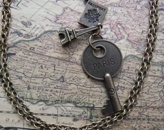 Paris Charm Necklace