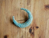 vintage 1940s crescent moon pin