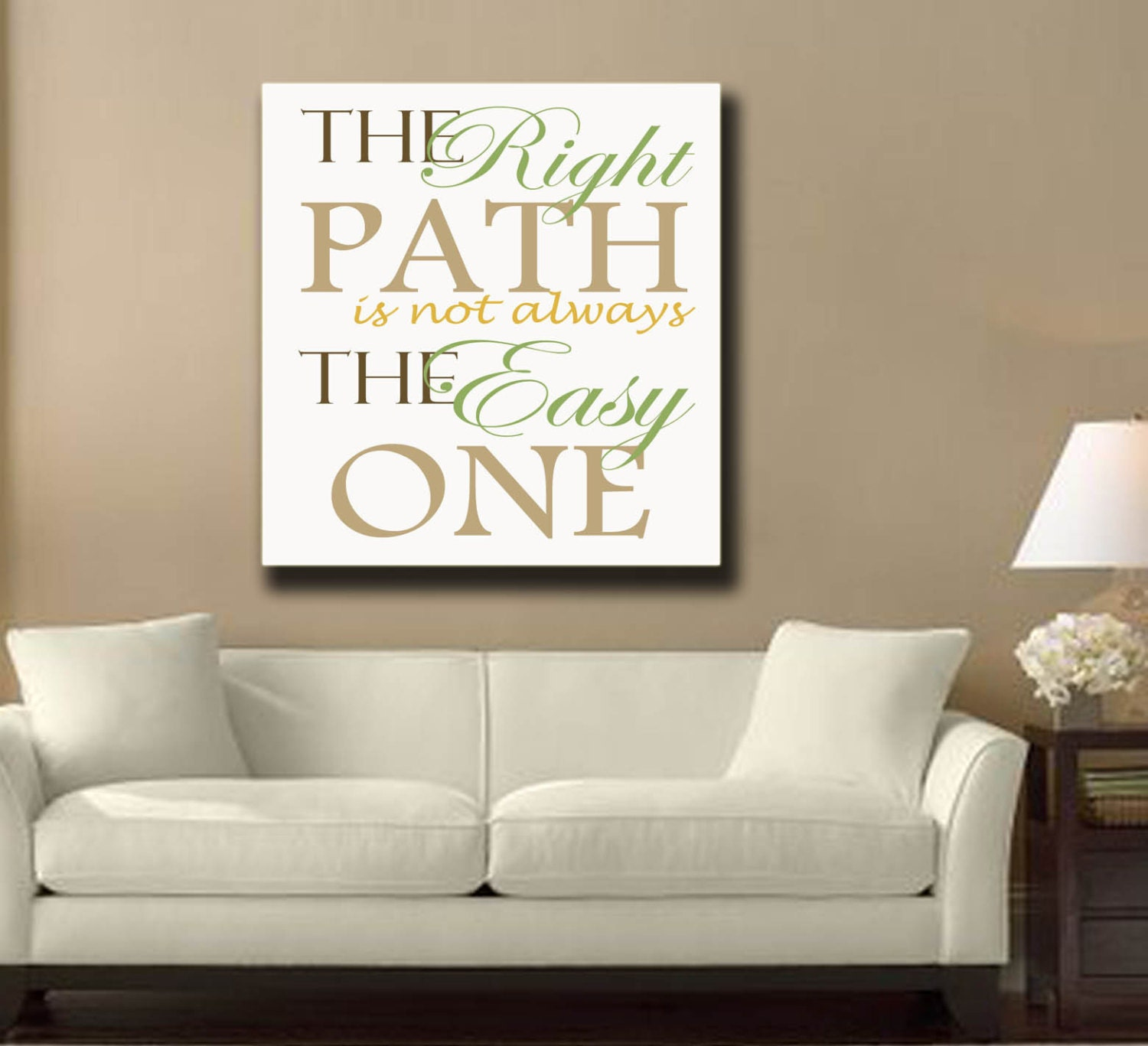 Custom Canvas wall art quote for home sign by