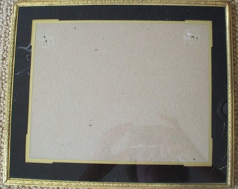 Vintage Deco Reverse Painted Picture Frame - Gold and Black