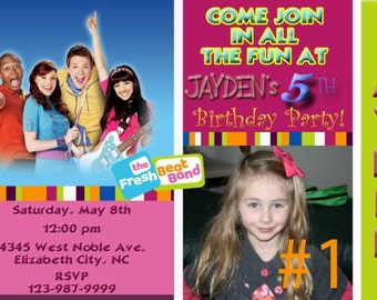 Fresh Beat Band Birthday Party Invitation Digital You Print 4x6 or 5x7