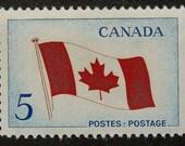 Canada Flag -Framed Postage Stamp Art 14834