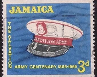 The Salvation Army Centenary 1865-1965 Jamaica -Handmade Framed Postage Stamp Art 9882