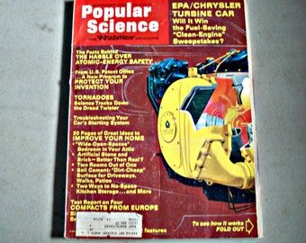 Vintage Popular Science Magazine, Improve Your Home, Automobile  Repair, 1970s Magazine, Put A Bedroom In Your Attic