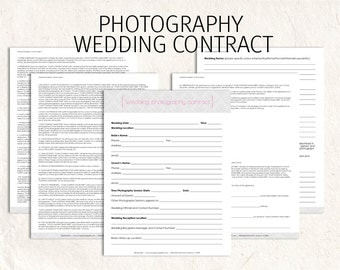 Wedding Photography contract business forms Damask editable templates - 5 psd files supplied
