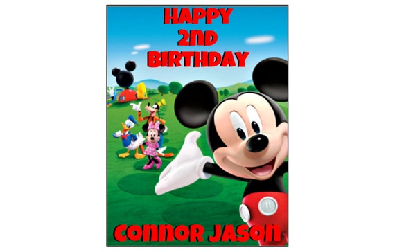 Mickey Mouse Clubhouse Edible Cake Images : Mickey Mouse Clubhouse EDIBLE image cake topper decoration