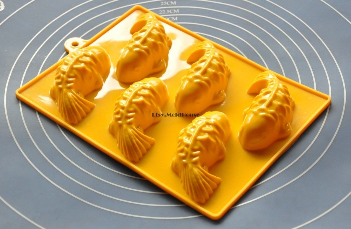 Fish flexible silicone mold cake mold chocolate mold cookie for Silicone fish molds