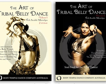 "DVD bundle: Vol 1 & 2 ""The Art of tribal Bellydance"" DVD's/ download/ online course all included!"