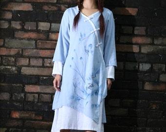 long sleeve maxi dress summer dress plus size dress maxi dresses summer dresses hand painted dress womens summer dresses unique dress