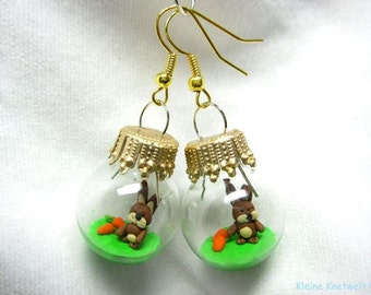 Bunny earring fashion jewelry easter polymer clay earrings