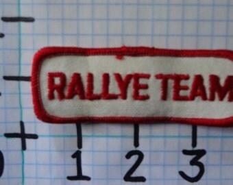 "Vintage ""Rallye Team"" Motorcycle Patch (004)"
