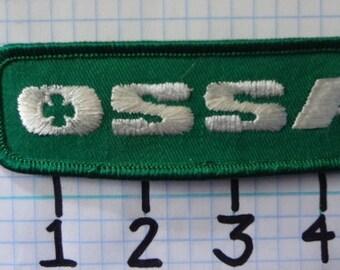 "Vintage ""OSSA"" Motorcycle Patch (009)"