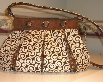 Brown 'Mod' Quilted Purse