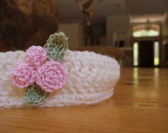 Rosebud Headband / Crochet / Headband