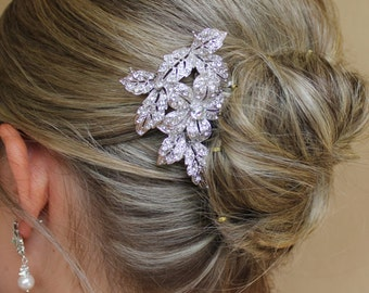 Bridal Hair Comb, Vintage Wedding Hair Accessory, Crystal Wedding Hair Comb,  Bridal Head piece ELLIE