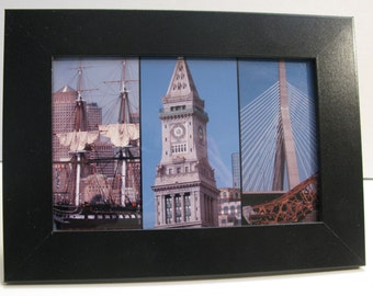 Framed 4x6 Boston Waterfront Photo Collage