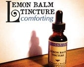 Lemon Balm Tincture-relaxing-stress reducing-mild depression -1 ounce glass bottle with glass dropper