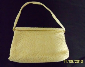 Vintage 1950's Made in Belgium Beaded Ivory