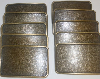 10 Belt Buckle Blanks - Antique Nickle & Brass Mix