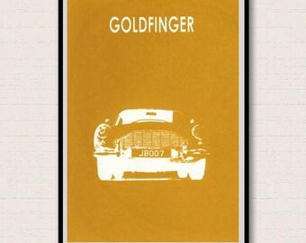 Goldfinger. James Bond Inspired Giclee Print