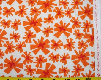 """Windham Quilting Fabric """"Play From Moe 3"""" in Orange by Jackie Shapiro Sold by the  HALF Yard"""