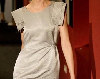 Silver Grey Feminine Women Elegant Short Dress